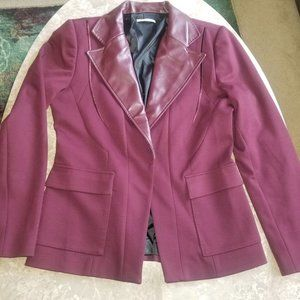 Tahari Burgundy Riding Jacket Blazer 10
